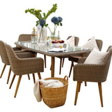Paxton 7 Piece Rattan Furniture Set - Gardenesque