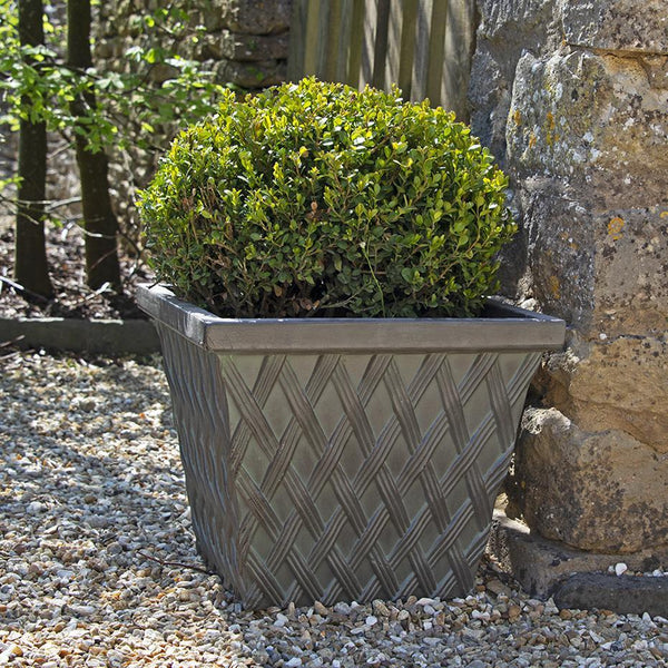 Clayton Square Verdigris Green Fibreclay Resin Planter - 2 Sizes, 3 Colours - Gardenesque