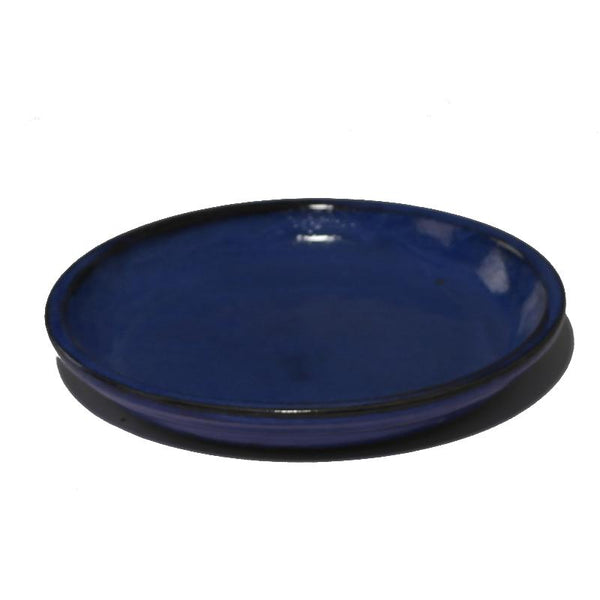 Glazed Blue Ceramic Pot Saucers - Packs of 3, 5 and 10 - Gardenesque