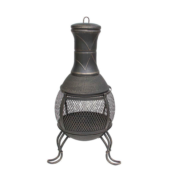 Hoole Steel Chiminea Log Burner - Gardenesque