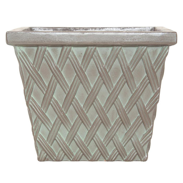 Clayton Square Verdigris Green Fibreclay Resin Planter - 2 Sizes - Gardenesque