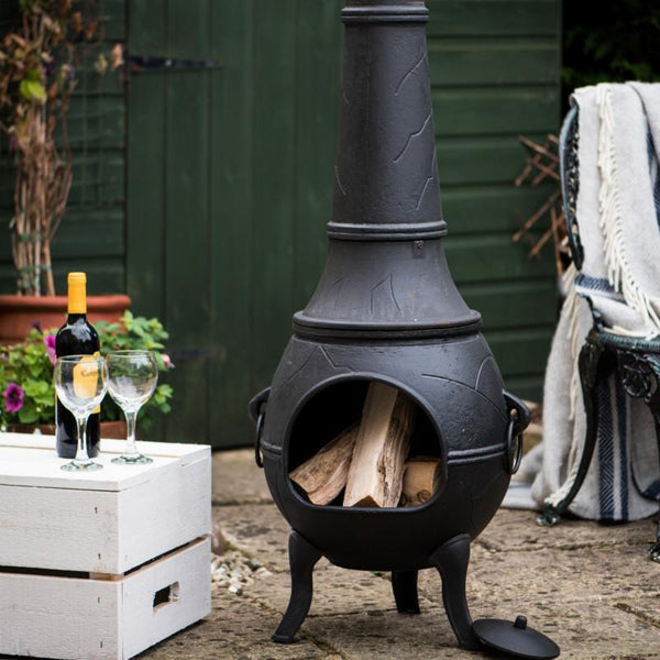 Hoole Cast Iron Chimenea Fireplace - Gardenesque