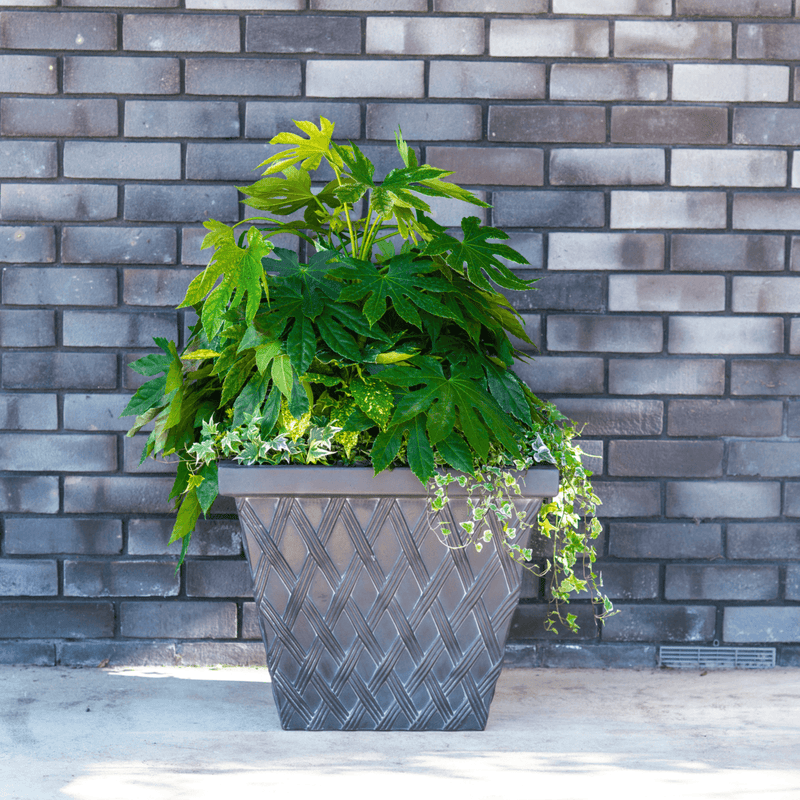 Clayton Square Rust Effect Fibreclay Resin Planter - 2 Sizes, 3 Colours Available