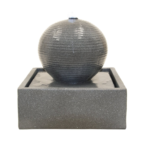 Globe Stone Effect Ball Water feature (with Base) - Gardenesque