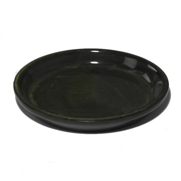 Glazed Ceramic Green Pot Saucers - Packs of 3, 5 and 10 - Gardenesque