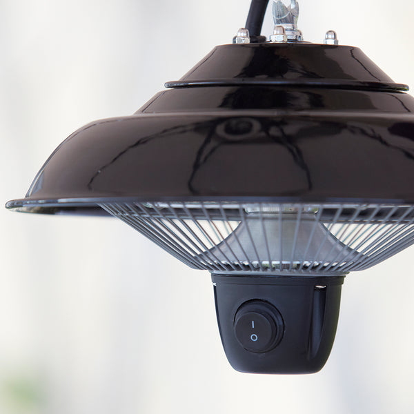 Candela Pendant Electric Patio Heater available from gardenesque.com