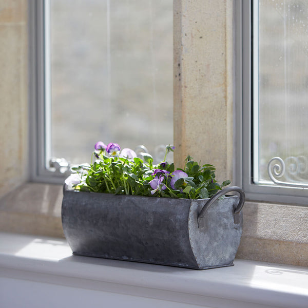 Ellham Metal Windowsill Farmhouse Trough Planter | Gardenesque