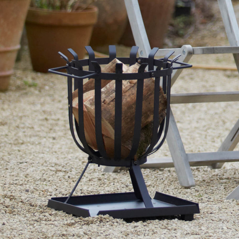 Hoole Cesta Steel Fire Basket | Gardenesque Fire Pit