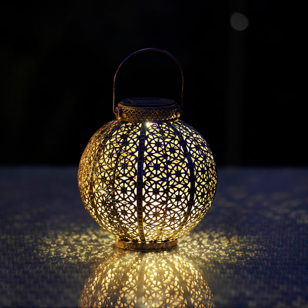 Moroccan Solar Lantern 4 Lumens available at gardenesque.com