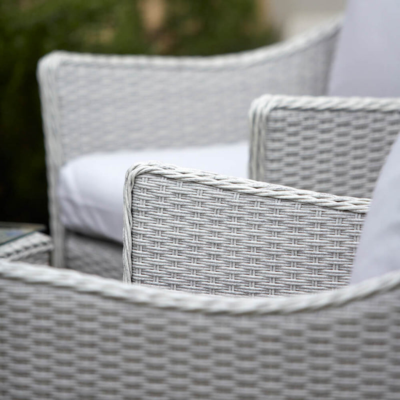 Paxton 4 Piece Rattan Garden Furniture Set with Cushions chair detail