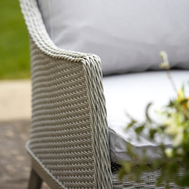 Paxton 4 Piece Rattan Garden Furniture Set with Cushions chair arm detail