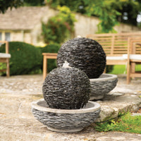 Globe Slate Water Feature with LED Light