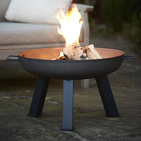 Hoole Cast Iron Fire Pit Bowl With Legs - 3 Sizes