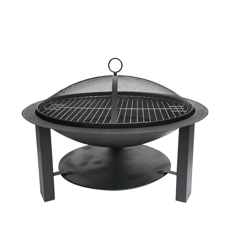 Hoole Leven Steel Fire Pit Bowl with Lid & Grill - Gardenesque