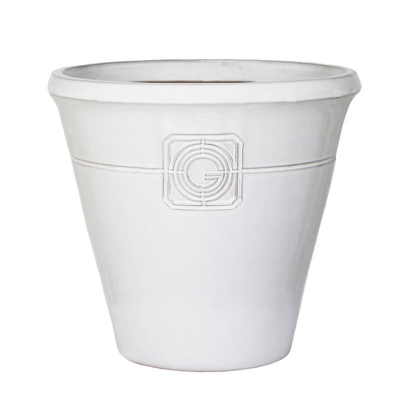 Loudon White Smoke Classical Cone Planter - 2 Sizes - Gardenesque