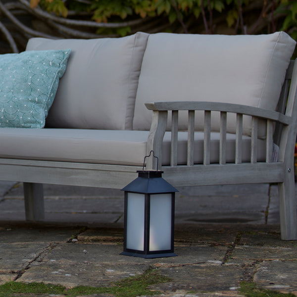 LED SOLAR HURRICANE LANTERN available at gardenesque.com