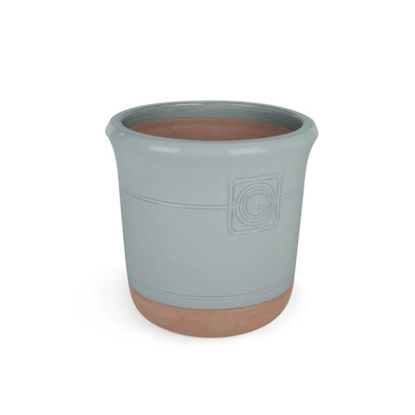 Loudon Oxford Blue Glazed Classical Planter - Gardenesque