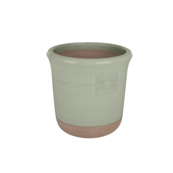 Loudon Topiary Green Glazed Classical Planter - Gardenesque