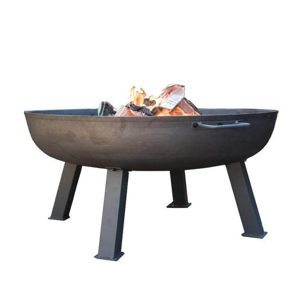 Hoole Round Metal Firepit With Legs - 3 Sizes - Gardenesque