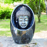 Bodhi Outdoor Water Feature with Pump and LED Light - Gardenesque