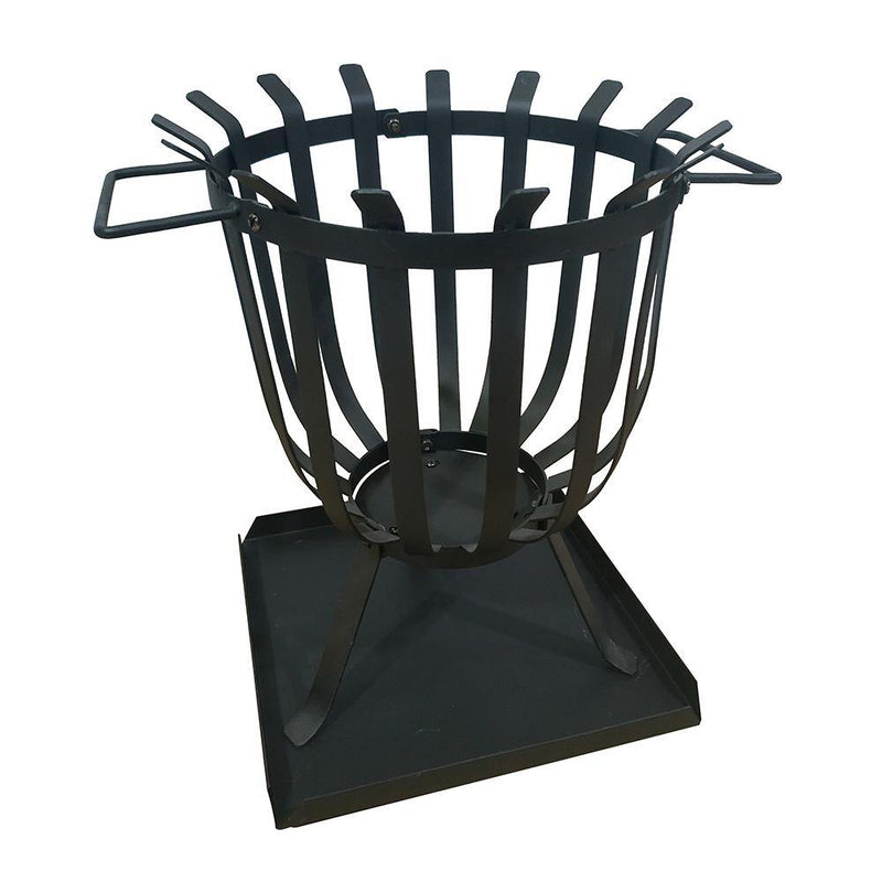 Hoole Cesta Steel Fire Basket - Gardenesque