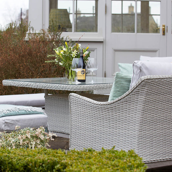 Paxton Rattan Garden Corner Sofa Set with Cushions | Gardenesque