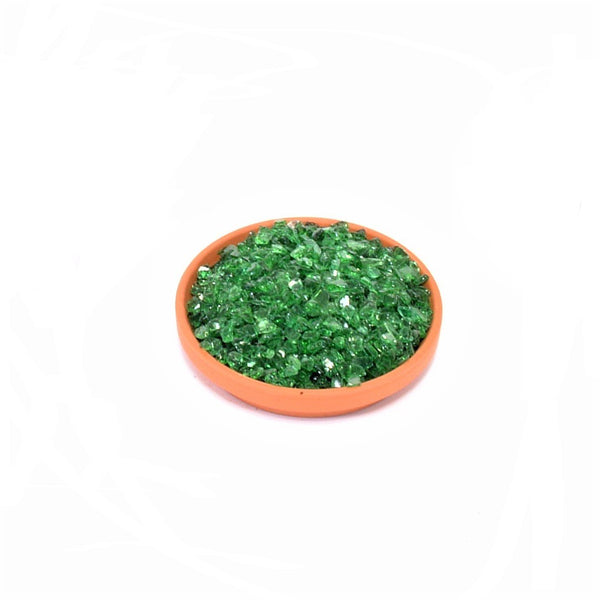 Decorative Emerald Green Glass Pot Toppers - 2kg