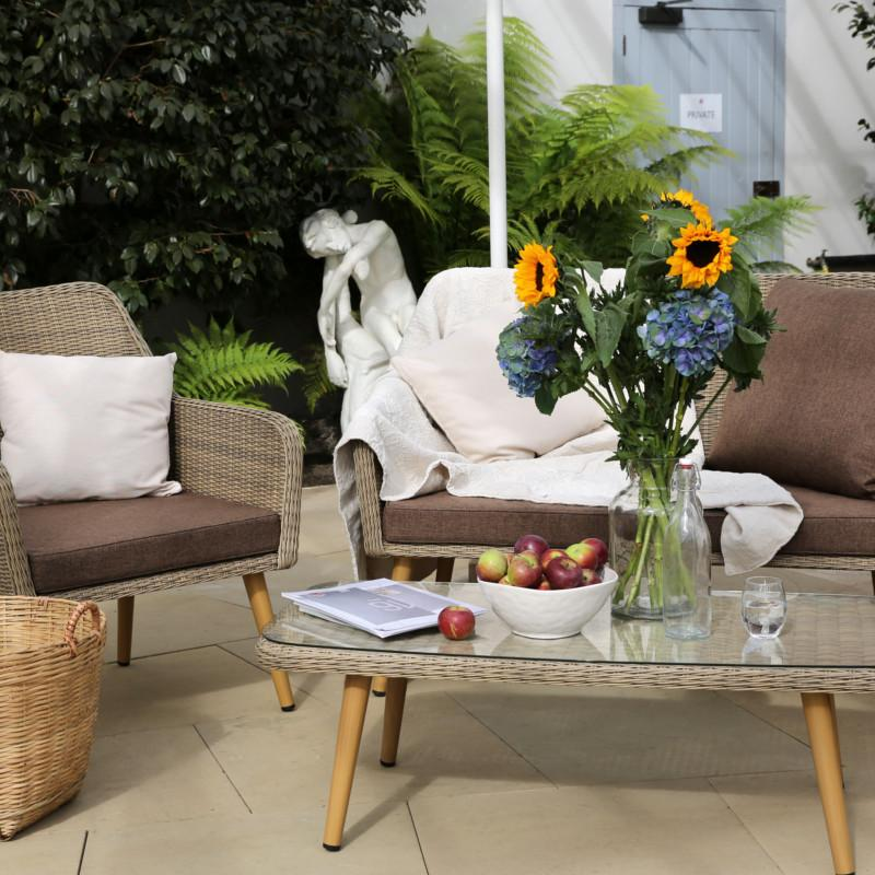 Paxton 4 Piece Rattan Furniture Set - Gardenesque