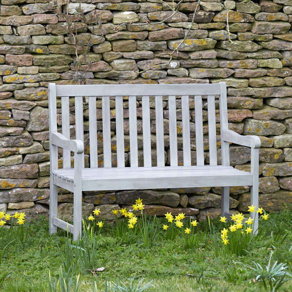 Repton Eucalyptus Wood Two Seater Garden Bench | Gardenesque