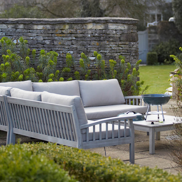 Repton Wooden Corner Sofa Furniture Set with Cushions Gardenesque