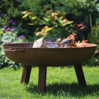 Hoole Round Cast Iron Firepit With Legs - 3 Sizes