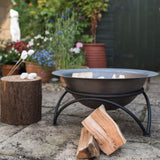 Hoole Tintagel Steel Fire Pit with Stand - Gardenesque