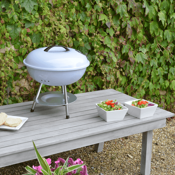 Gardenesque Portable Table Top Kettle BBQ Charcoal Grill - 2 Colours - Gardenesque