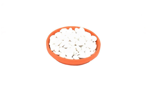Decorative White Stone Pot Toppers - 2kg