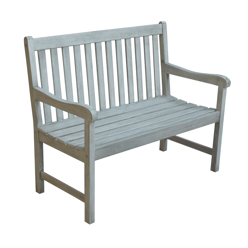 Repton Eucalyptus Wood Two Seater Garden Bench - Gardenesque