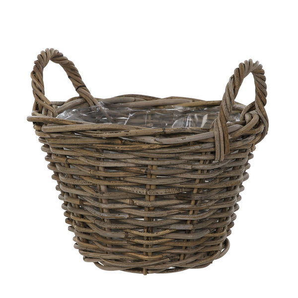 Natural Rattan Pot with liner - 2 Sizes - Gardenesque