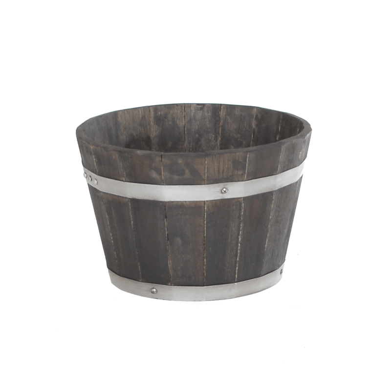 Whiskey Barrel Wooden Pot Planter - Multiple Sizes - Gardenesque