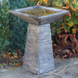 Wood Effect Bird Bath with Detachable Top available at Gardenesque