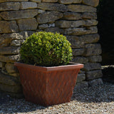 Clayton Square Rust Effect Fibreclay Resin Planter - 2 Sizes - Gardenesque