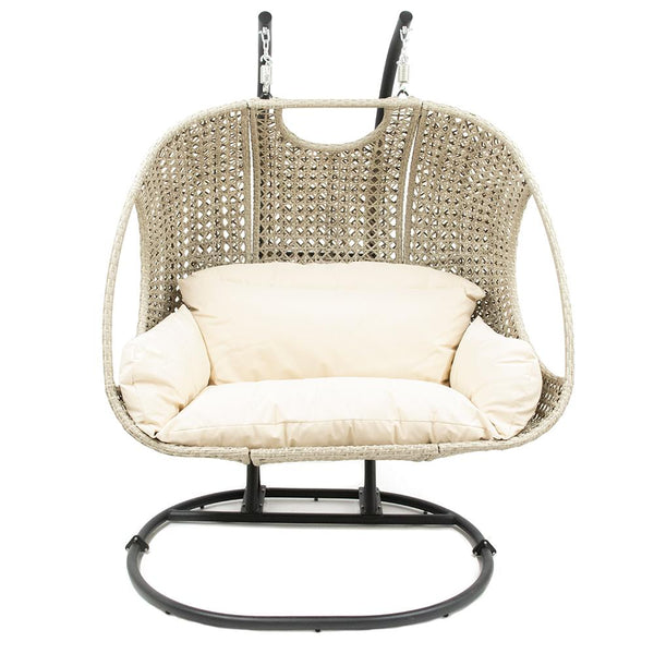 Double Rattan Garden Egg Chair