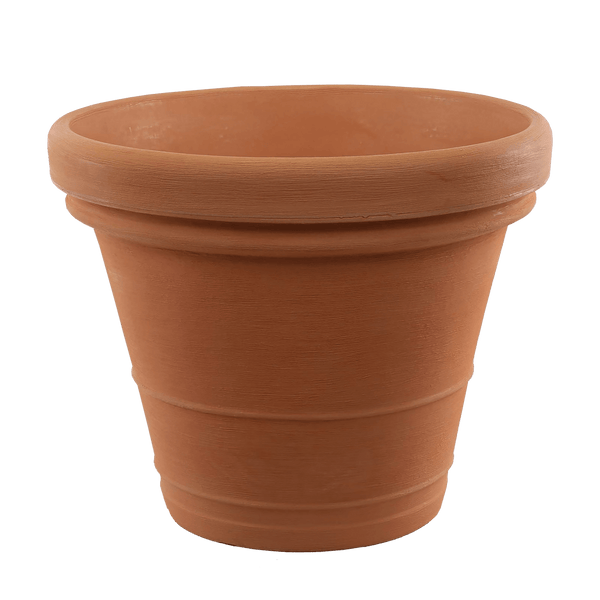 Extra large plastic terracotta pot