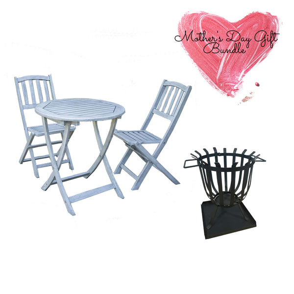 garden bistro set and fire pit gardenesque