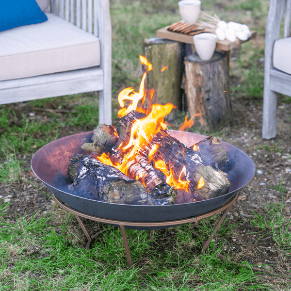 Hoole Cast Iron Bowl Firepit With Stand - Gardenesque