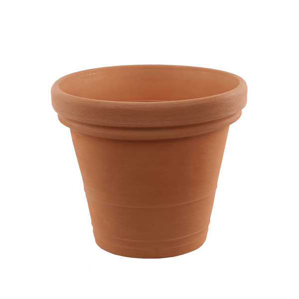 Large plastic terracotta pot