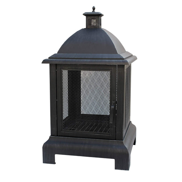 Hoole Seaton Lightweight Steel Patio Fire Pit with Grate - Gardenesque