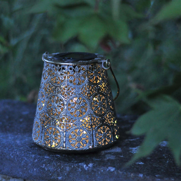 metal solar powered lantern