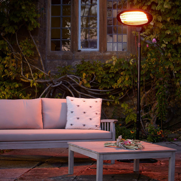 Luna Outdoor Electric Steel Heater available at gardenesque.com