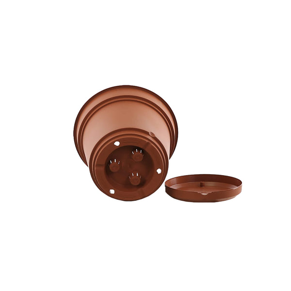 terracotta plastic self watering planter with saucer