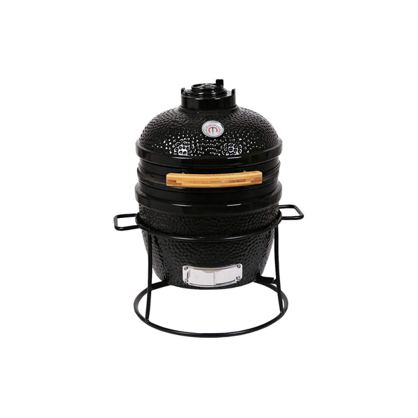 Portable kamado bbq grill with handle