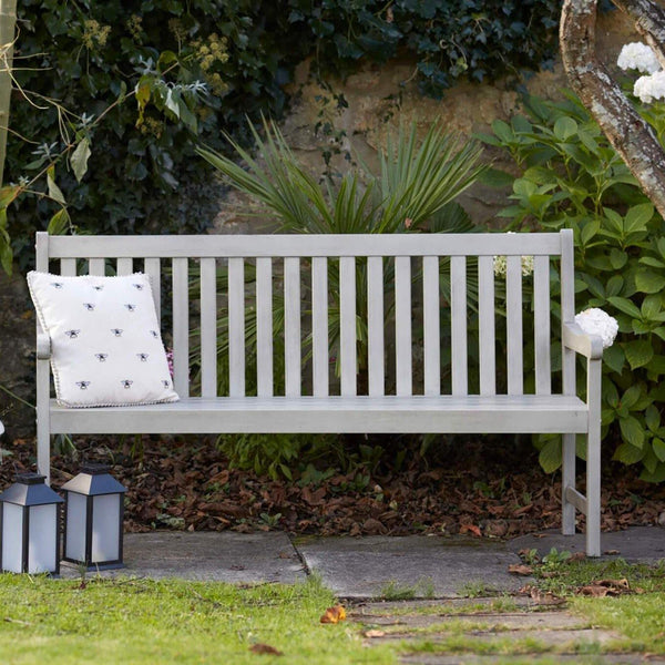 Repton three seater wooden garden bench - Gardenesque